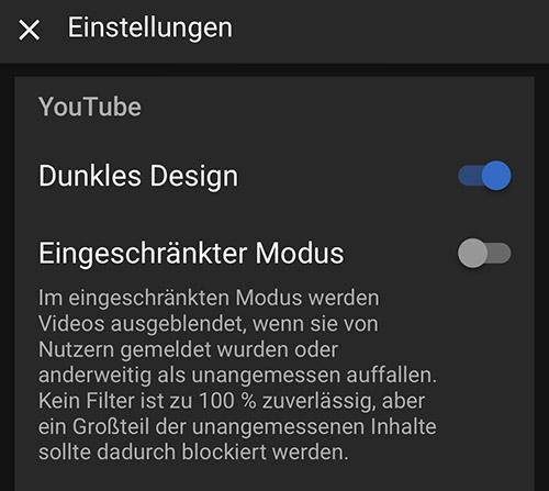 Youtube Dunkles Design