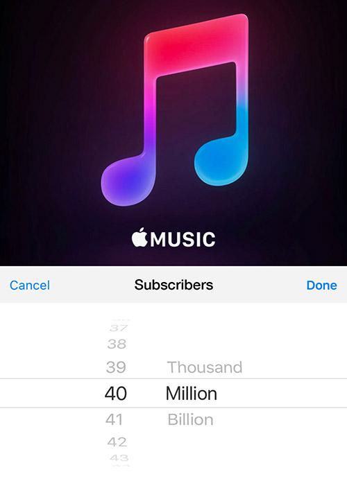 Apple Music 40 Millionen Nutzer