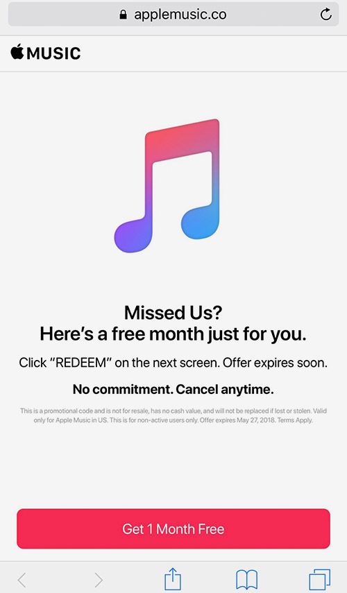 Apple Music Abo Voucher