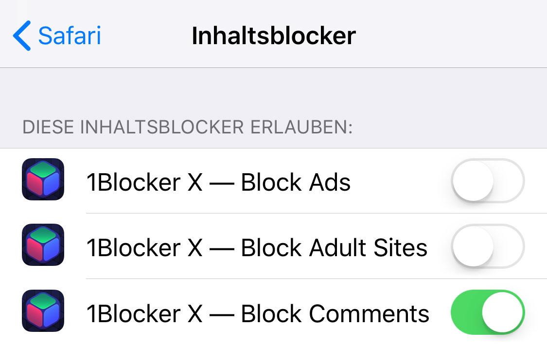 Inhaltsblocker