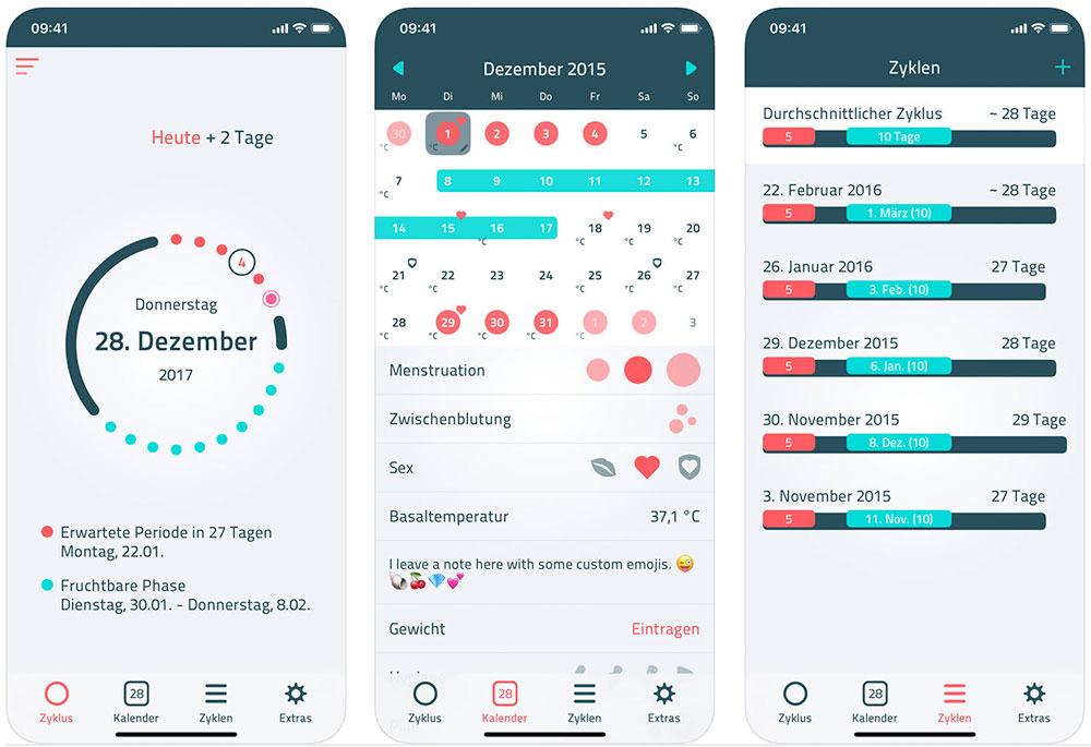 Zykluskalender App Kostenlos