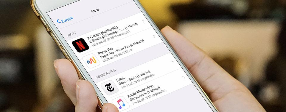 Direkter Link: iPhone-Abos anzeigen und kündigen