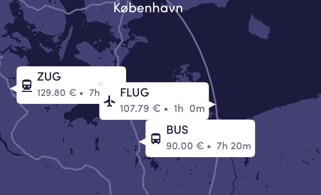 Flug Bus Zug