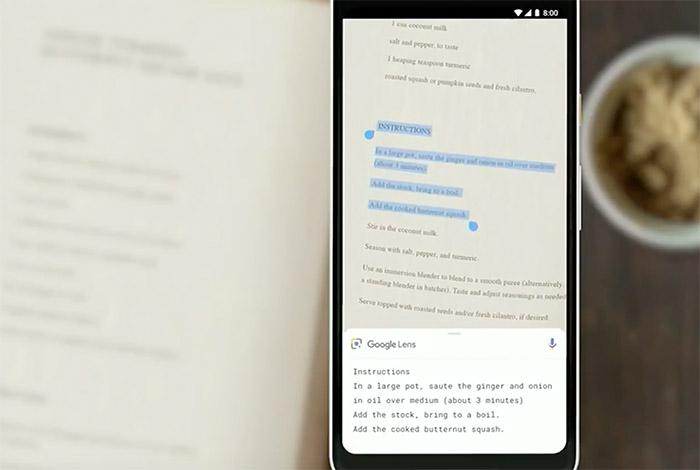 Google Lens Smart Text