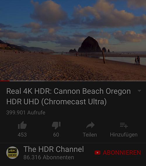 YouTube: HDR-Videos für das iPhone X verfügbar
