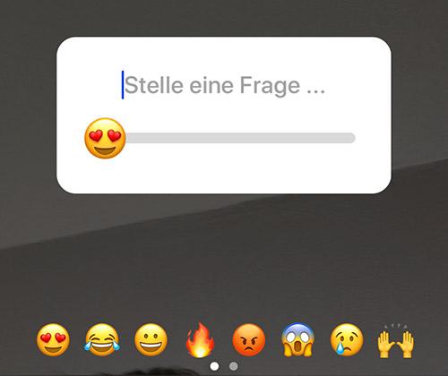 Instagram Stories Umfrage Emoji Slider