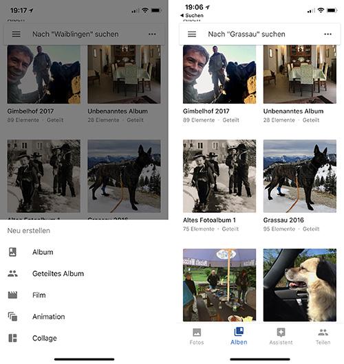 Google Fotos Alben