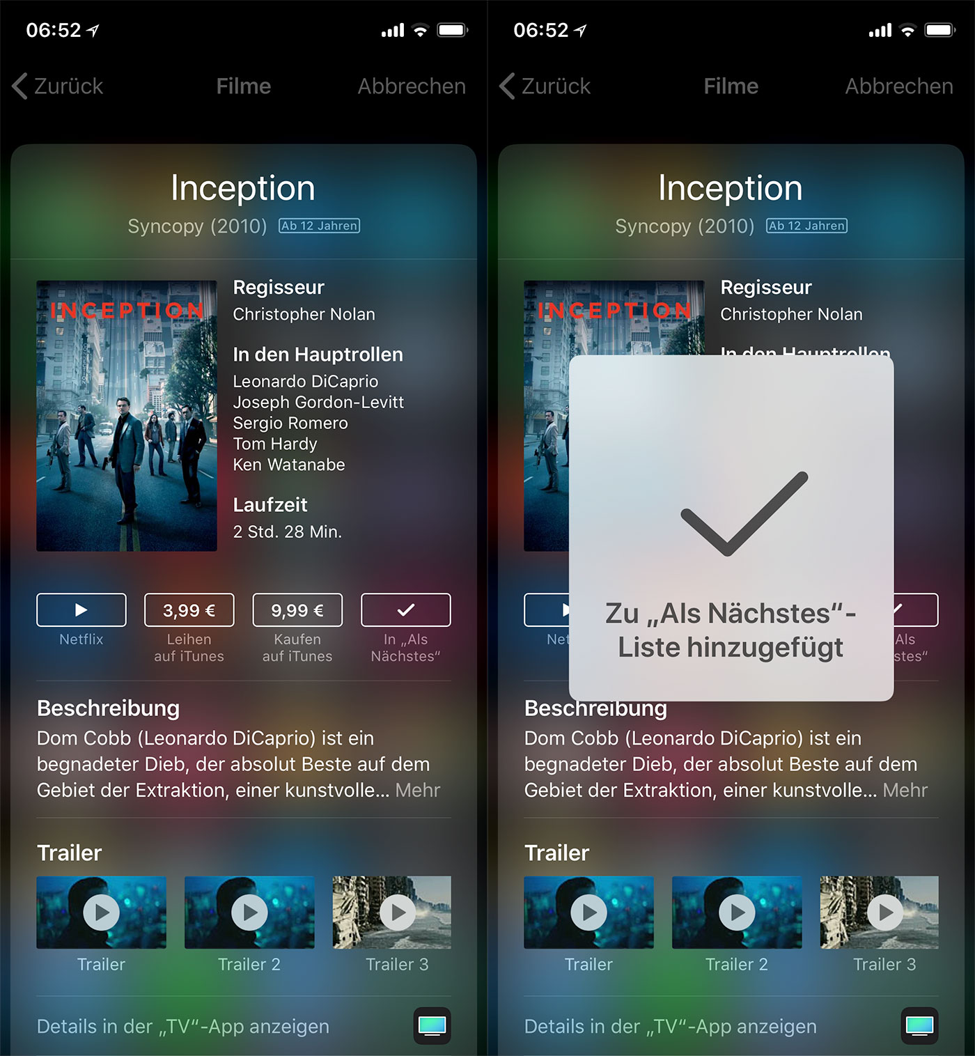 Inception Tv App