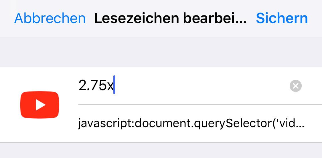 Lesezeichen Javascript