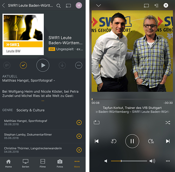 Plex Podcast Player
