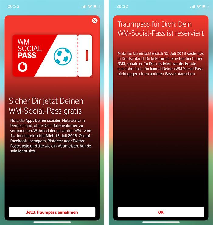Vodafone Social Pass Fussball Wm