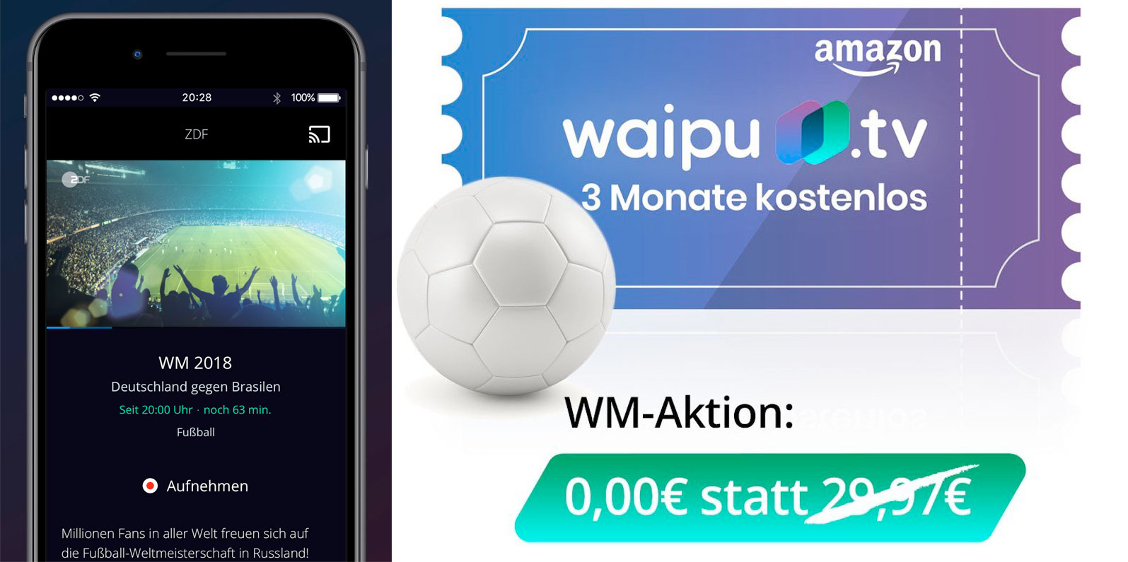 Waipu App Aktion
