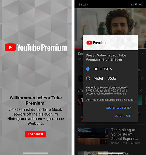 Youtube Premium Deutschland