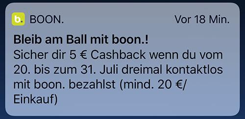 Boon Apple Pay Cashback