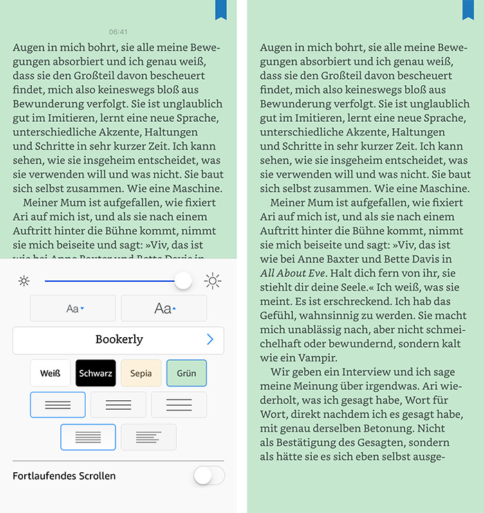 Kindle App Ios Gruenes Theme
