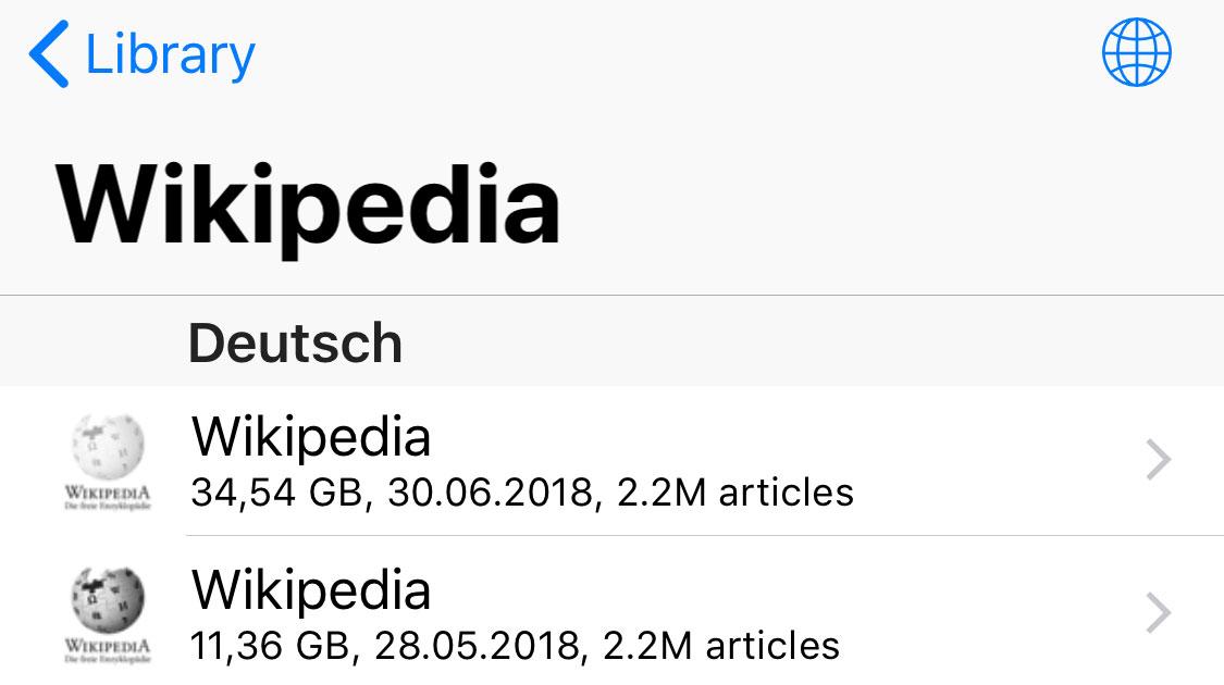 Geheimtipp: iPhone-App Kiwix sichert Wikipedia offline