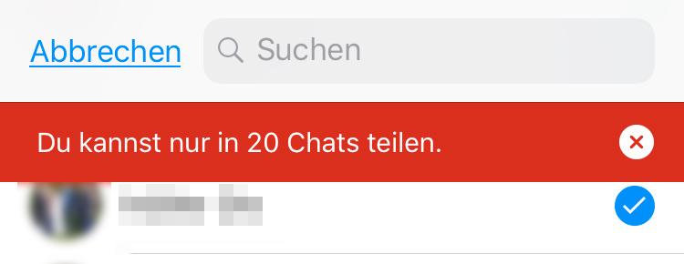 Leere nachricht whatsapp ios