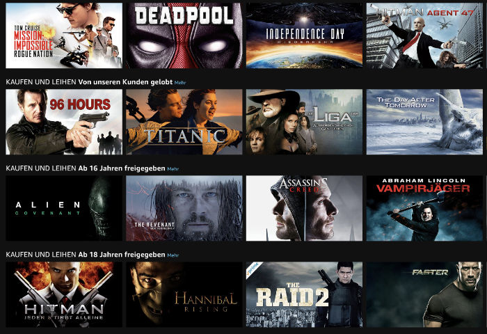 Amazon Action Filme