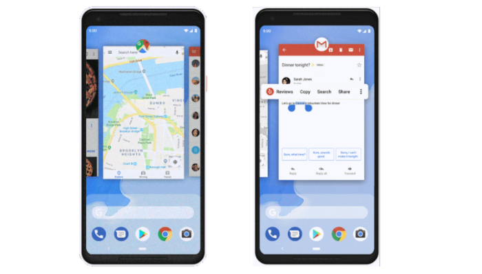 Android 9 App Switcher