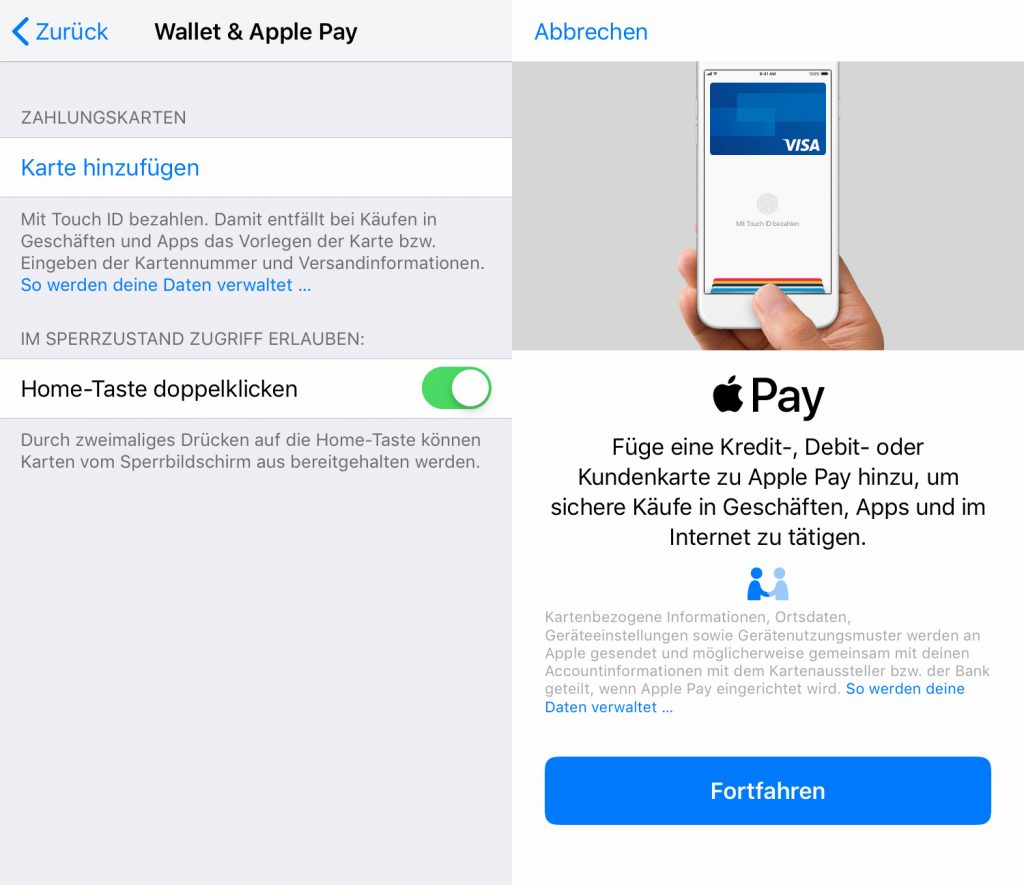 Apple Pay Konfig