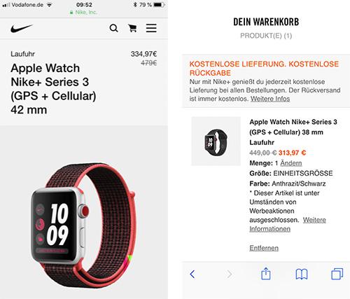 Apple Watch Nike Plus Angebot