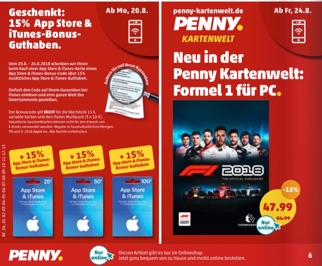 Bei Penny Itunes Karten Mit 15 Bonus Guthaben Iphone Ticker De