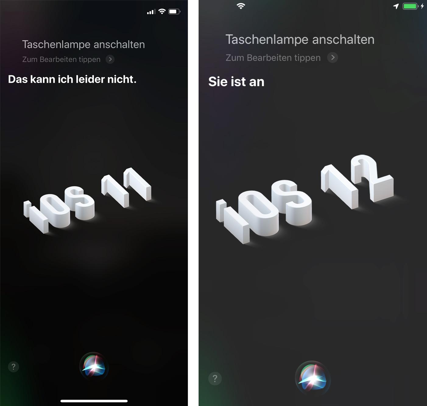 Neu In Ios 12 Siri Schaltet Die Taschenlampe Ein Iphone Tickerde