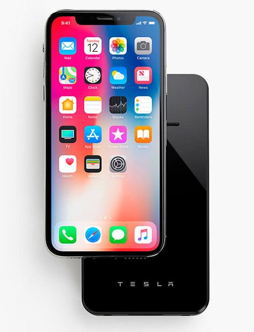 Tesla Qi Akku Iphone