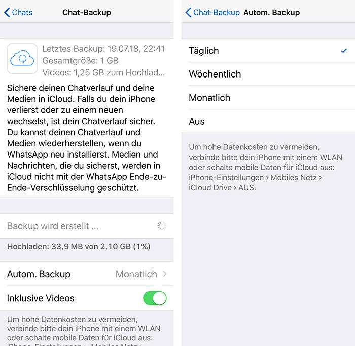 whatsapp backup von iphone auf android