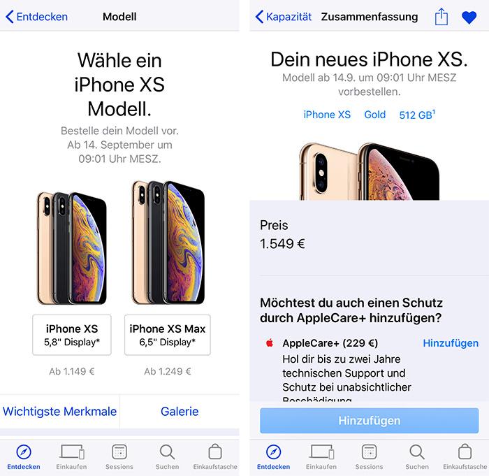 Apple Store App Vorbestellen