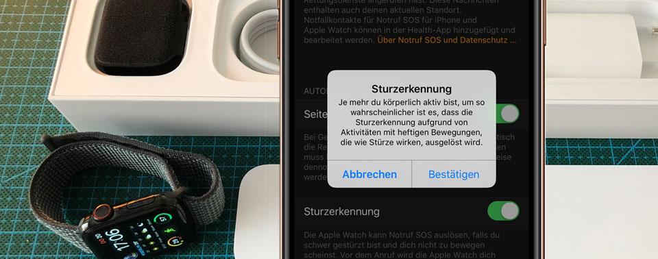 apple watch series 4 verpackung sturzerkennung zifferbl tter iphone. Black Bedroom Furniture Sets. Home Design Ideas