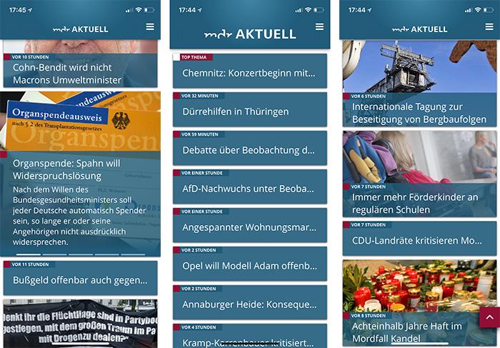 Mdr Aktuell App Screenshots