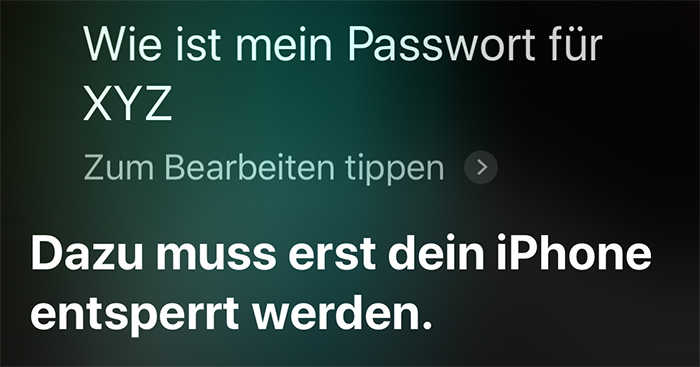 Siri Nach Passwort Fragen