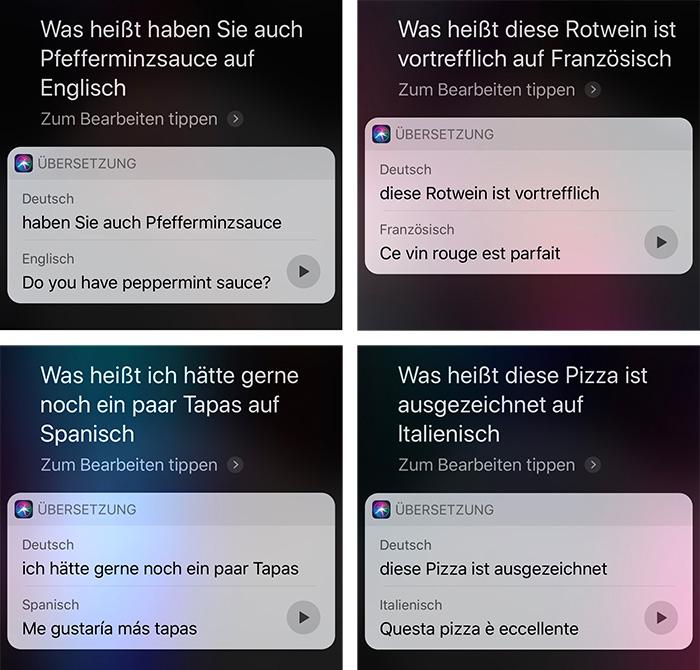 Siri Uebersetzung Ios 12