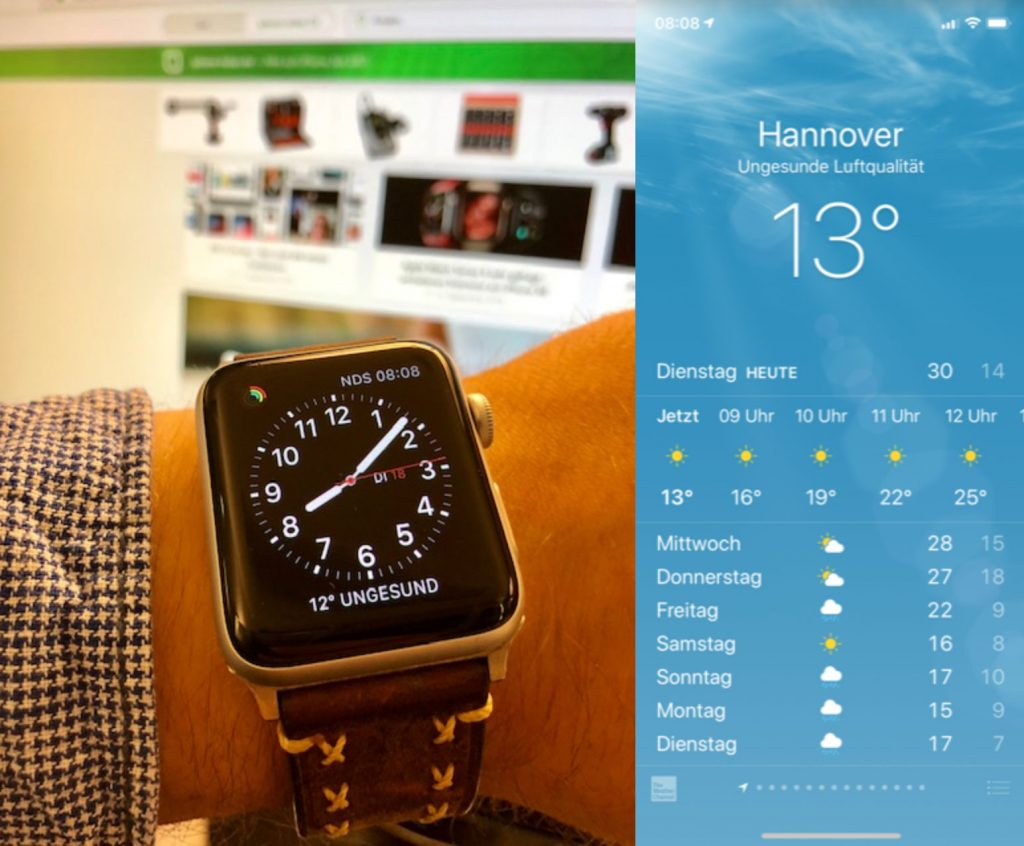 Wetter Apple Watch