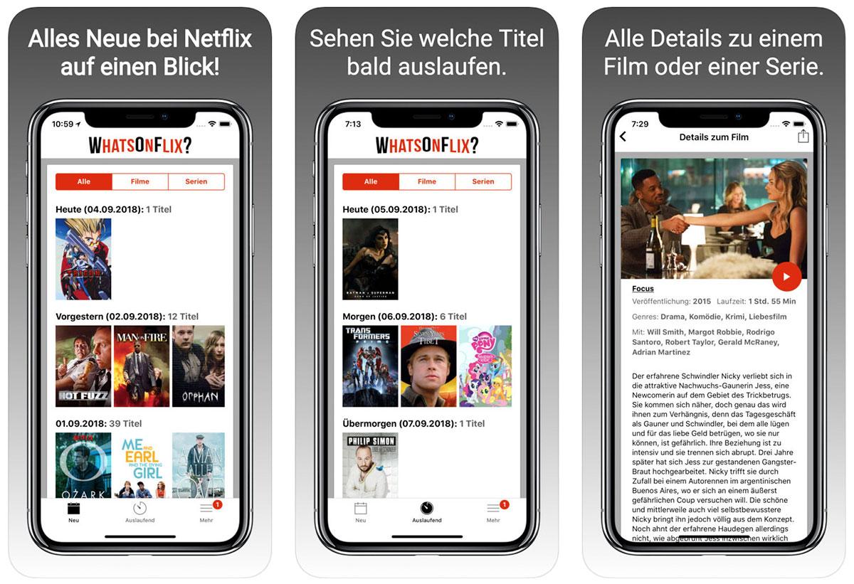 whatsonflix app zeigt netflix neuzug nge iphone. Black Bedroom Furniture Sets. Home Design Ideas