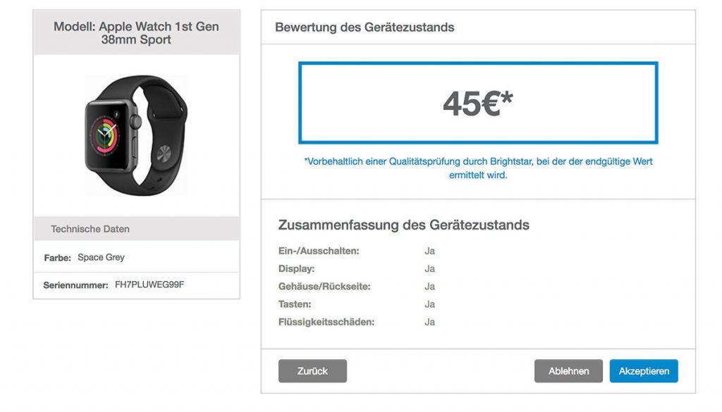 Apple GiveBackwtach 45 Euro