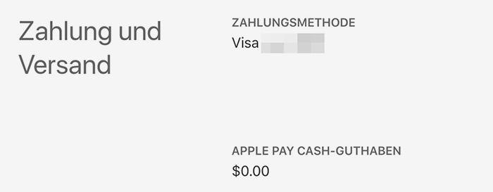Apple Pay Cash Guthaben Anzeigen