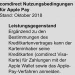Comdirect Bank kündigt Apple-Pay-Unterstützung an