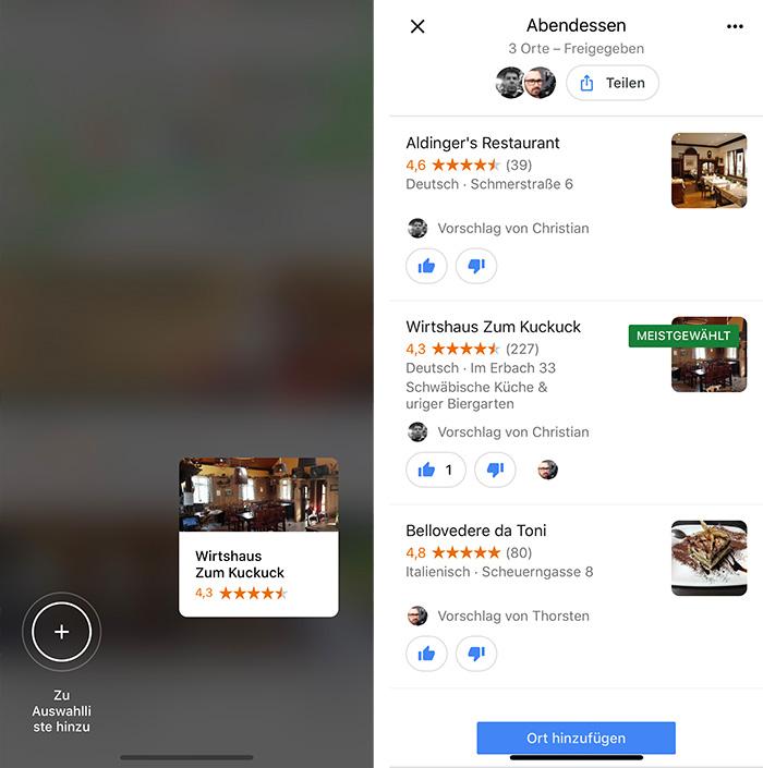 Google Maps Gruppenplaner