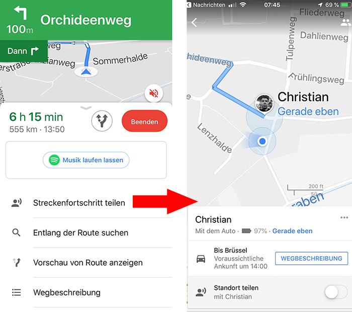 on google live maps