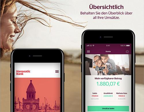Hanseatic Bank Mobile Screenshots