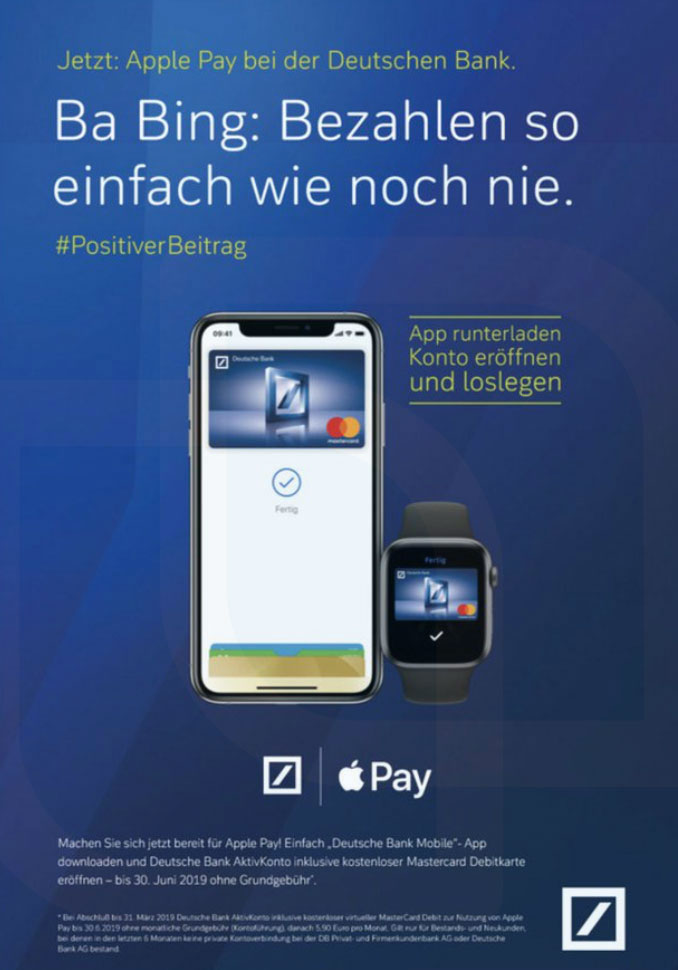 Ifun De Apple Pay Deutsche Bank Flyer