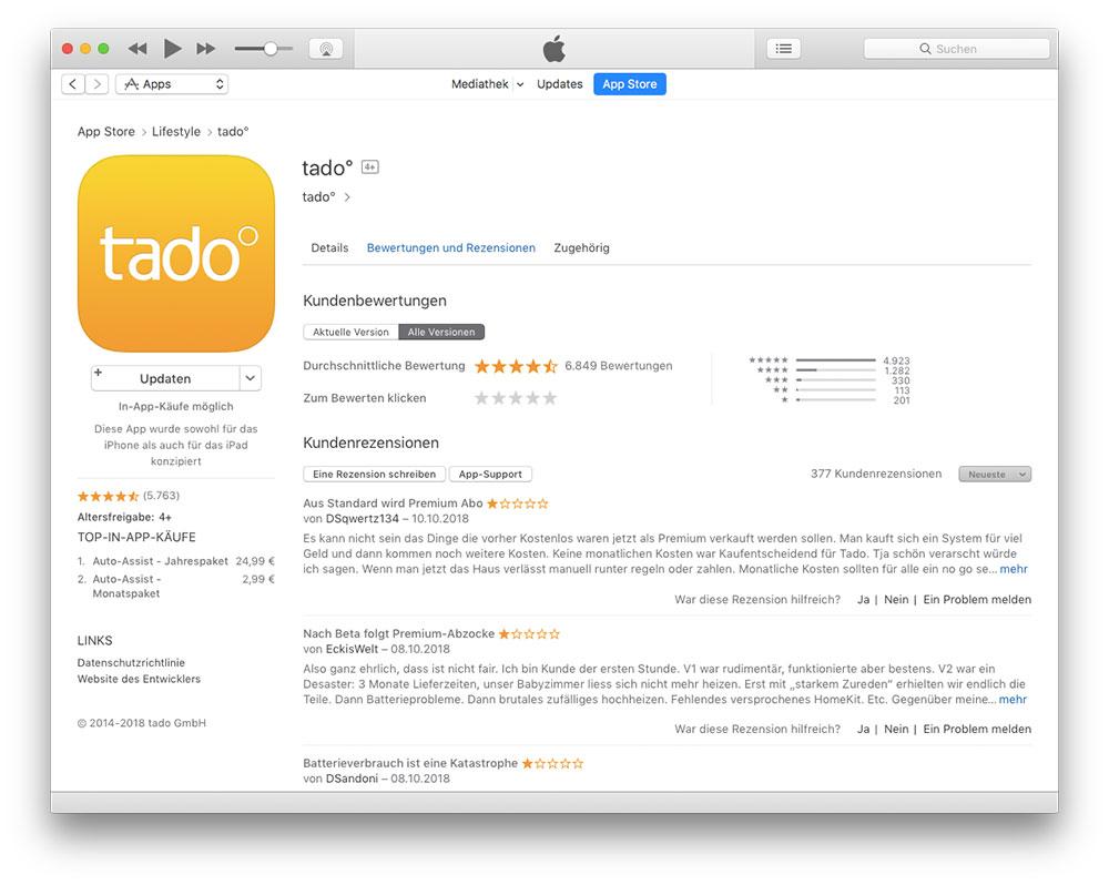 Kommentare App Store
