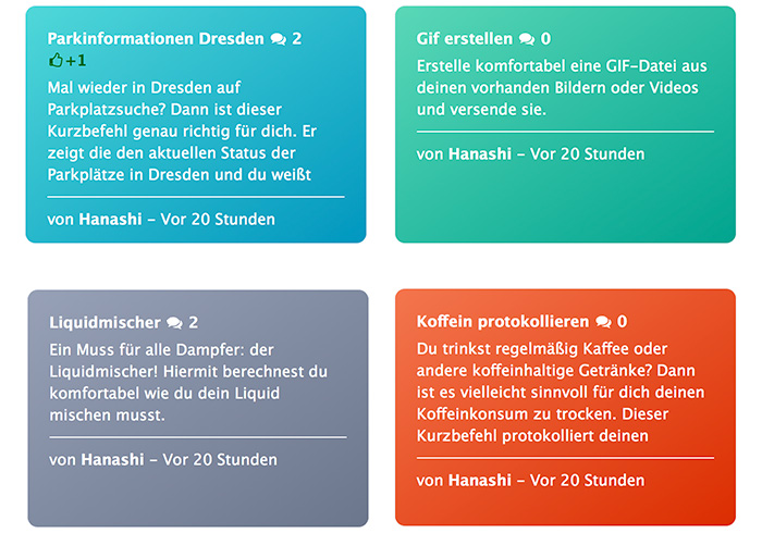 Siri Kurzbefehle Deutsche Webseite