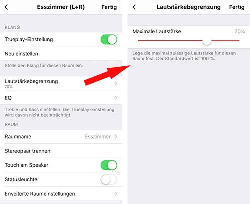 Sonos Lautstaerke Begrenzung App 9 2