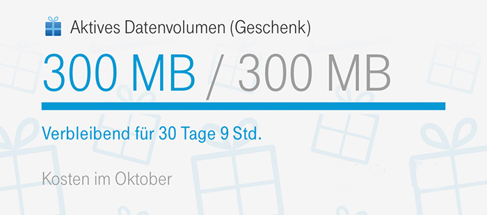 Telekom Datenvolumen Geschenk Oktober