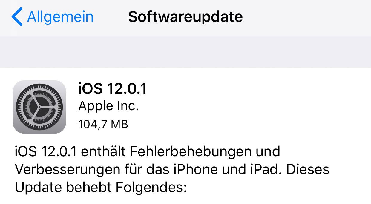 ios 12 download zeit