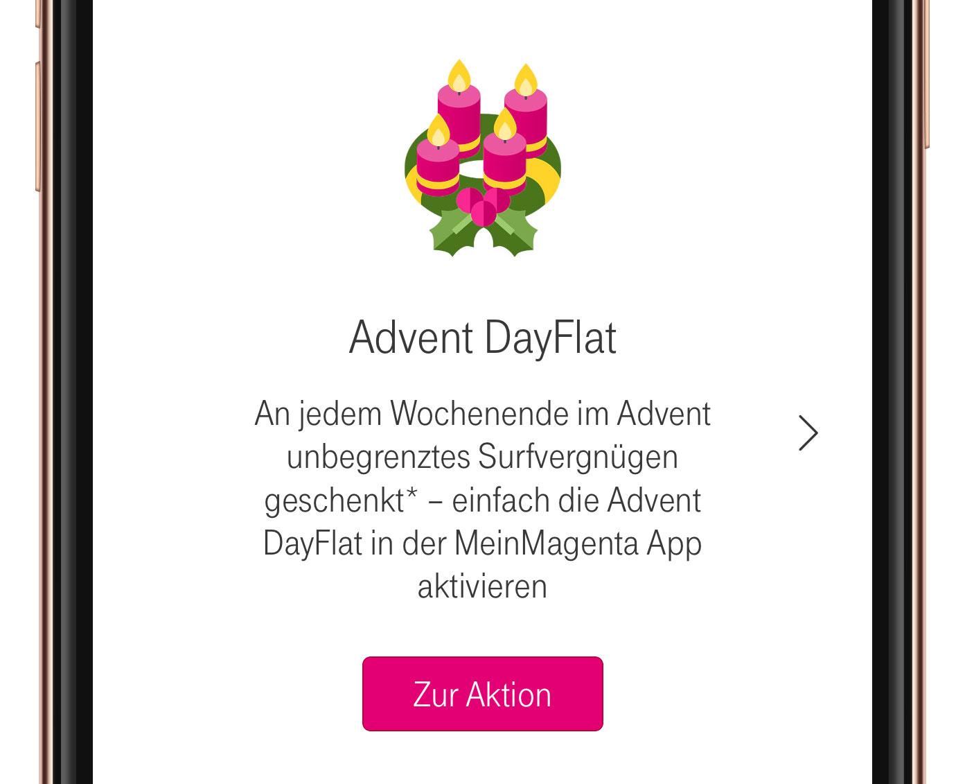 Advent Dayflat Datengeschenk Für Telekom Kunden Startet Iphone