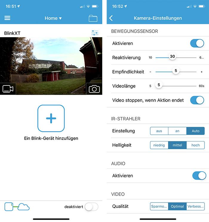 Blink Xt Kamera App Einstellungen
